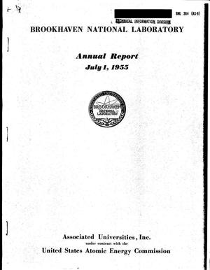 Primary view of object titled 'ANNUAL REPORT--JULY 1, 1955'.