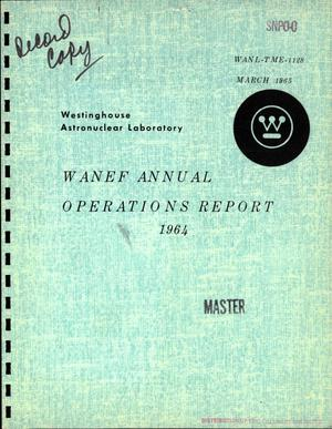 Primary view of object titled 'WANEF annual operations report, 1964'.
