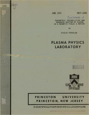 Primary view of object titled 'Parametric instabilities and enhanced heating of plasma in a magnetic field: a review'.