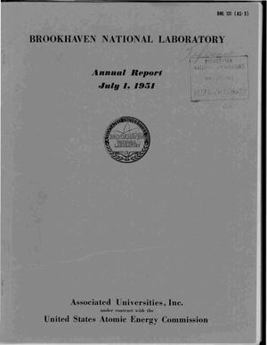 Primary view of object titled 'ANNUAL REPORT JULY 1, 1951'.