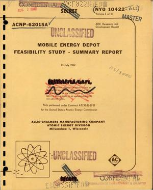 Primary view of object titled 'Mobile energy depot feasibility study: summary report'.
