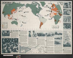 Primary view of object titled 'Newsmap. Monday, July 6, 1942 : week of June 26 to July 2'.