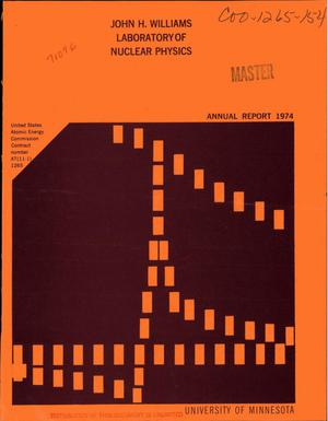 Primary view of object titled 'Annual report 1974'.