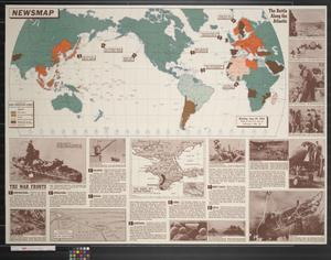 Primary view of object titled 'Newsmap. Monday, June 29, 1942 : week of June 19 to June 26'.