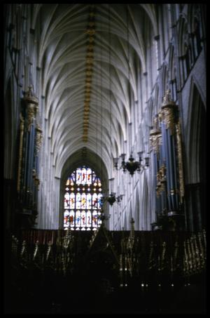Primary view of object titled '[Westminster Abbey Interior]'.