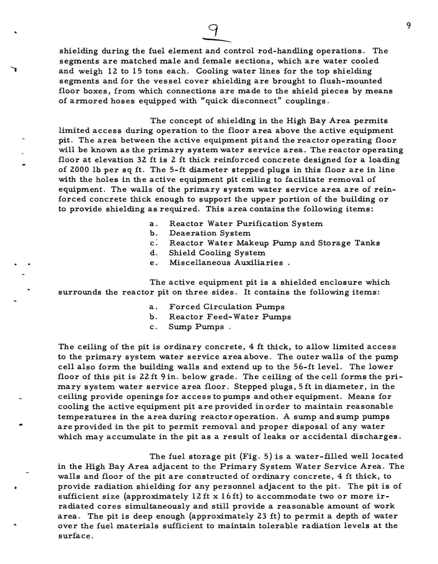PRELIMINARY DESIGN REQUIREMENTS ARGONNE BOILING REACTOR (ARBOR) FACILITY. Revision I                                                                                                      [Sequence #]: 11 of 161