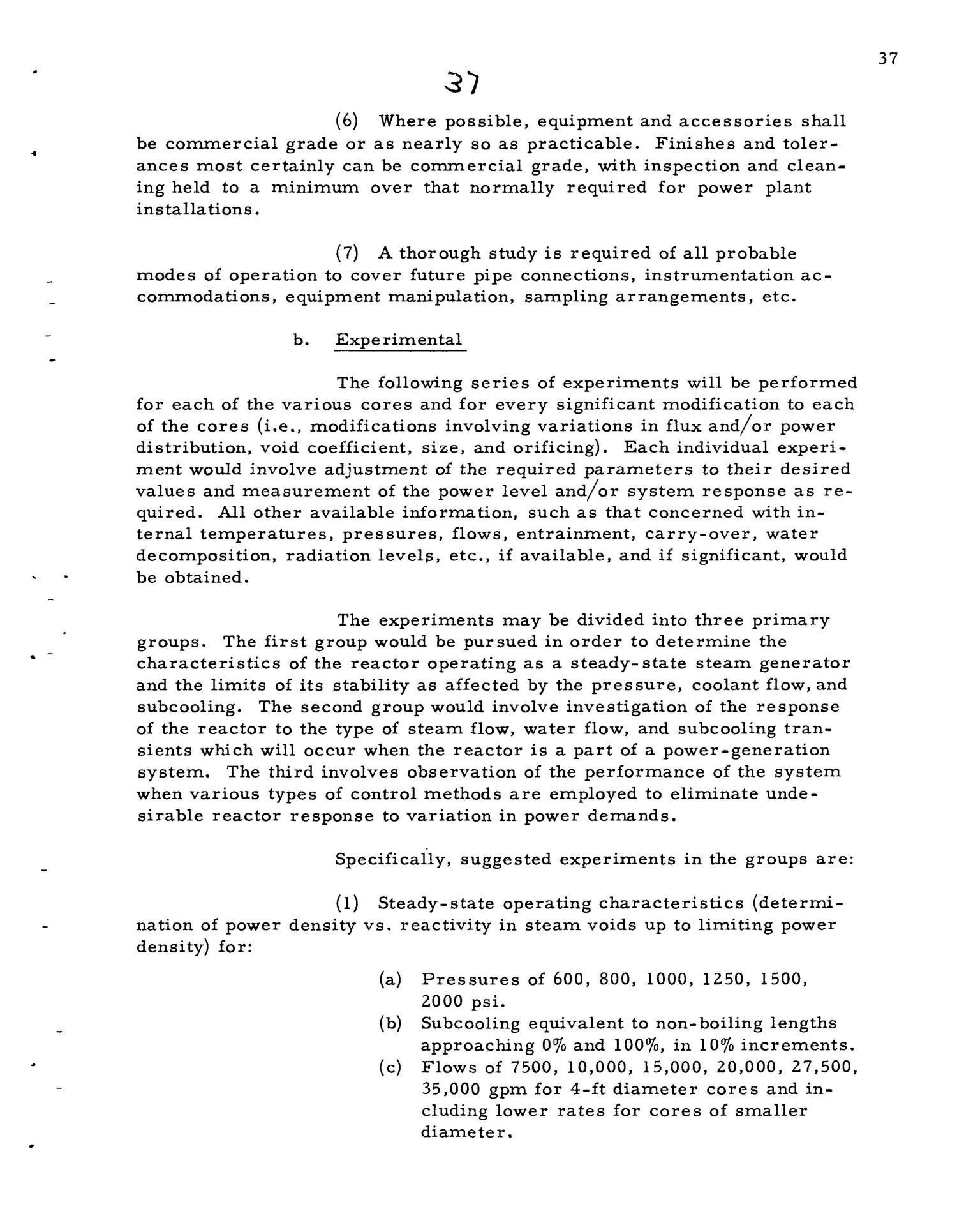 PRELIMINARY DESIGN REQUIREMENTS ARGONNE BOILING REACTOR (ARBOR) FACILITY. Revision I                                                                                                      [Sequence #]: 39 of 161