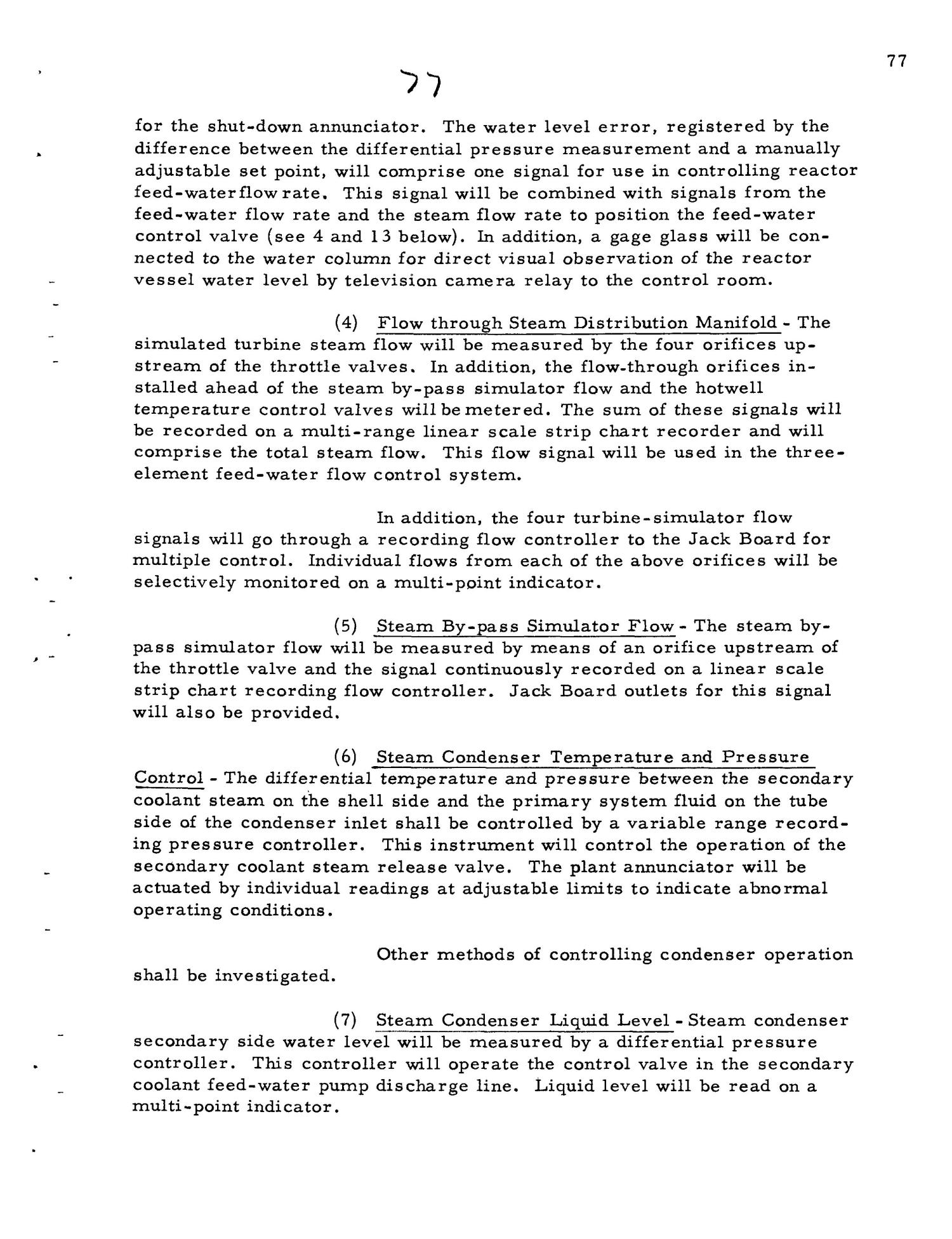 PRELIMINARY DESIGN REQUIREMENTS ARGONNE BOILING REACTOR (ARBOR) FACILITY. Revision I                                                                                                      [Sequence #]: 79 of 161