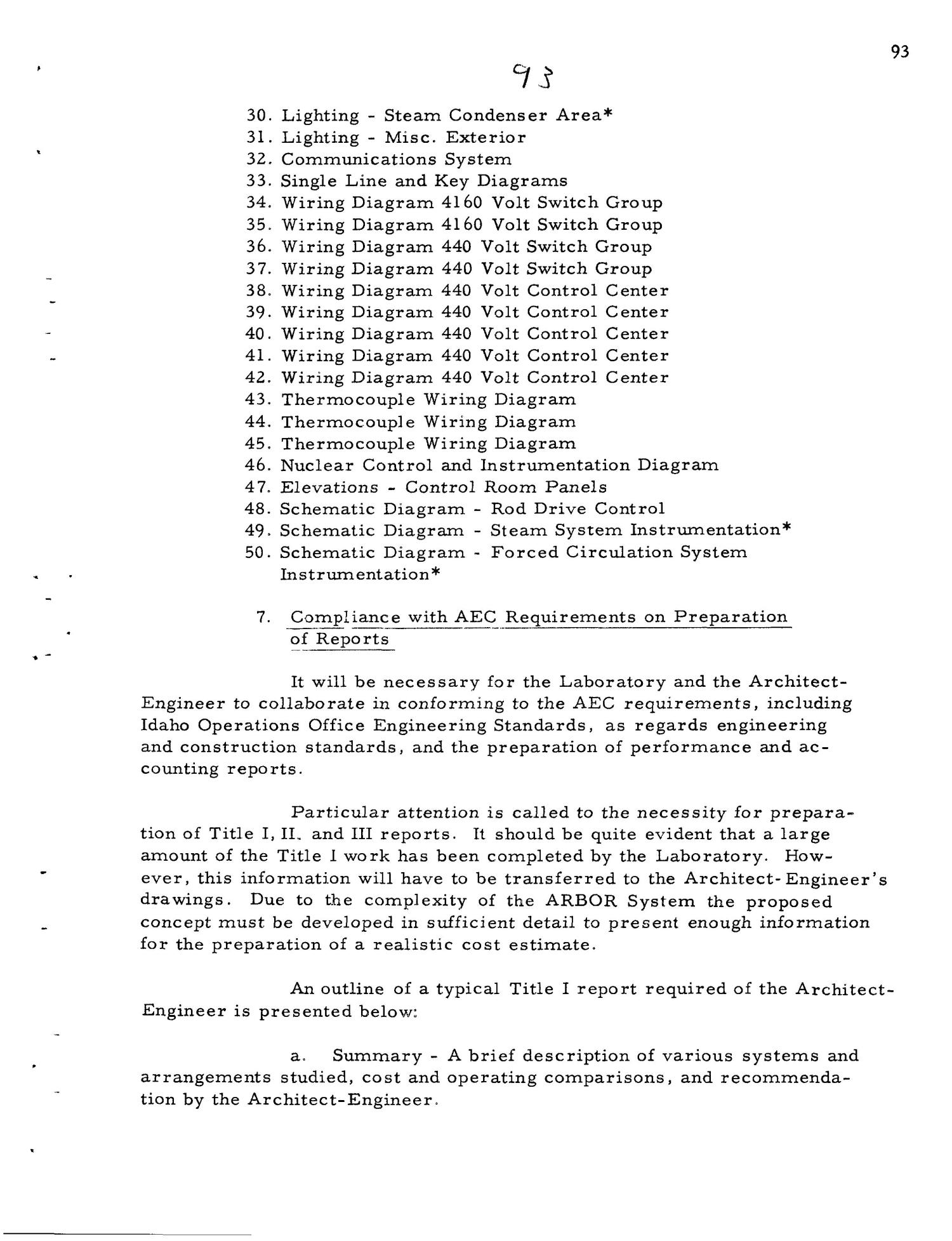 PRELIMINARY DESIGN REQUIREMENTS ARGONNE BOILING REACTOR (ARBOR) FACILITY. Revision I                                                                                                      [Sequence #]: 95 of 161
