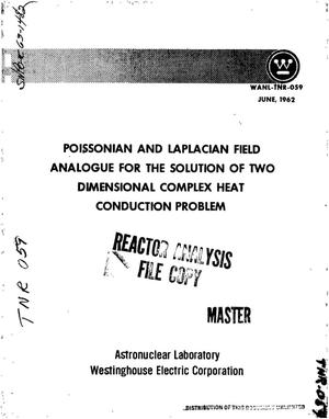 Primary view of Poissonian and Laplacian field analogue for the solution of two dimensional complex heat conduction problem