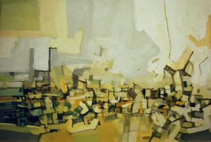 Primary view of object titled 'Yellow Landscape'.