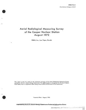 Primary view of object titled 'Aerial radiological measuring survey of the Cooper Nuclear Station, August 1972'.
