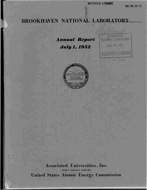 Primary view of object titled 'ANNUAL REPORT JULY 1, 1952'.