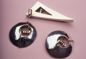 Primary view of object titled 'Brooch and Earrings'.