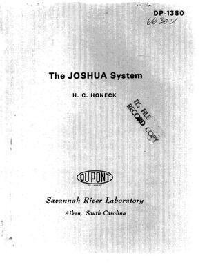 Primary view of object titled 'JOSHUA system'.