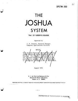 Primary view of object titled 'JOSHUA System. Vol. 2.1. User's guide'.
