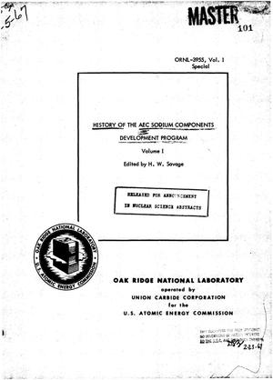 Primary view of object titled 'HISTORY OF THE AEC SODIUM COMPONENTS DEVELOPMENT PROGRAM.'.
