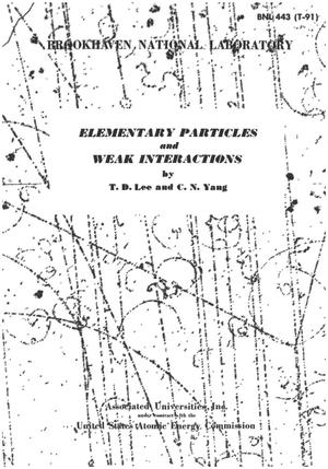 Primary view of object titled 'Elementary Particles and Weak Interactions'.