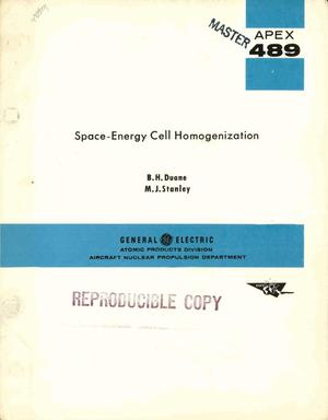 Primary view of object titled 'SPACE-ENERGY CELL HOMOGENIZATION'.