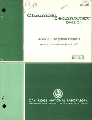 Primary view of Chemical Technology Division annual progress report for period ending March 31, 1973