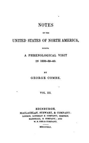 Primary view of object titled 'Notes of the United States of North America, during a phrenological visit in 1898-9-40 Vol. 3'.