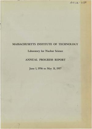 Primary view of object titled 'Annual Progress Report Covering Researches During the Period June 1, 1956 to May 31, 1957. Report No. 45'.