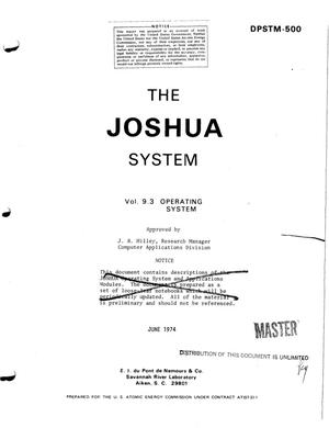 Primary view of object titled 'JOSHUA System. Vol. 9.3. Operating system'.