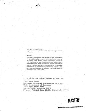 Primary view of object titled 'DEVELOPMENT OF NEW DIELECTRIC SYSTEMS TO PROVIDE A MINIMUM VOLUMETRIC EFFICIENCY OF TEN JOULES PER CUBIC INCH. Quarterly Progress Letter No. 1, February 8, 1968--May 8, 1968.'.