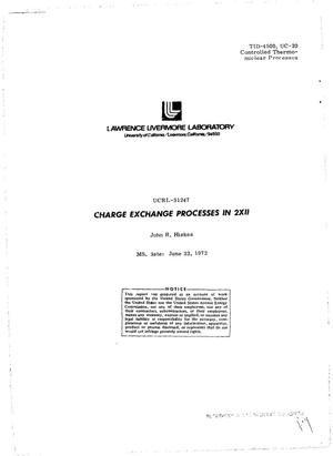 Primary view of object titled 'CHARGE EXCHANGE PROCESSES IN 2XII.'.
