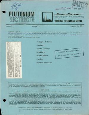 Primary view of object titled 'PLUTONIUM ABSTRACTS, VOLUME 6, NUMBER 7'.