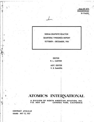 Primary view of object titled 'Sodium Graphite Reactor Quarterly Progress Report for October-December 1956'.