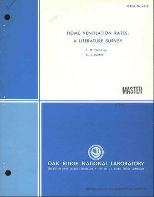 Primary view of object titled 'Home ventilation rates: a literature survey'.