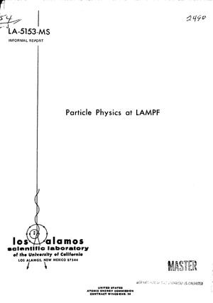 Primary view of object titled 'Particle physics at LAMPF.'.