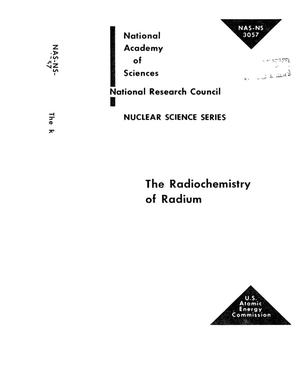 Primary view of object titled 'THE RADIOCHEMISTRY OF RADIUM'.