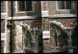 Primary view of object titled '[St. Albans Abbey detail]'.