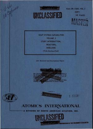 Primary view of object titled 'SNAP systems capabilities. Volume 2. Study introduction, reactors, shielding'.