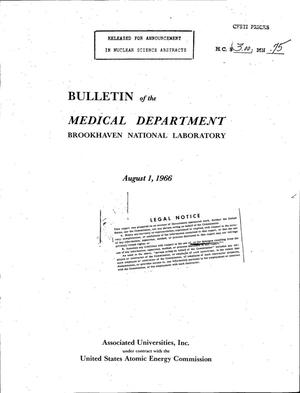 Primary view of object titled 'BULLETIN OF THE MEDICAL DEPARTMENT, BROOKHAVEN NATIONAL LABORATORY.'.