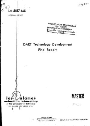 Primary view of object titled 'DART technology development. Final report.'.
