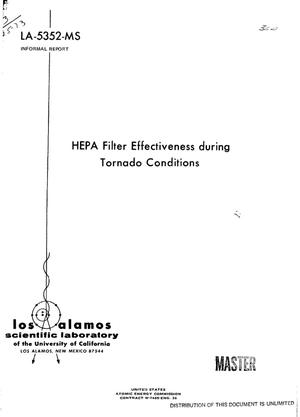 Primary view of object titled 'HEPA filter effectiveness during tornado conditions'.