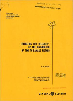 Primary view of object titled 'ESTIMATING PIPE RELIABILITY BY THE DISTRIBUTION OF TIME-TO-DAMAGE METHOD.'.