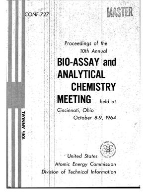 Primary view of object titled '10TH ANNUAL BIO-ASSAY AND ANALYTICAL CHEMISTRY MEETING, OCTOBER 8-9, 1964'.