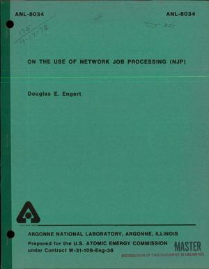 Primary view of object titled 'Use of network job processing (NJP)'.