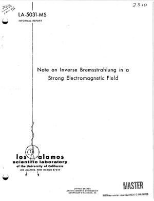Primary view of object titled 'Note on Inverse Bremsstrahlung in a Strong Electromagnetic Field.'.