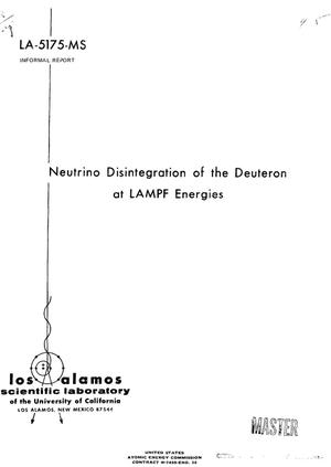 Primary view of object titled 'Neutrino disintegration of the deuteron at LAMPF energies.'.