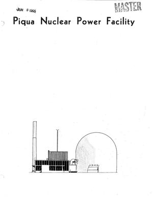 Primary view of object titled 'Piqua Nuclear Power Facility Monthly Operating Report No. 24'.