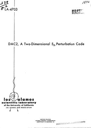 Primary view of object titled 'DAC2, A TWO-DIMENSIONAL S/sub n/ PERTURBATION CODE.'.