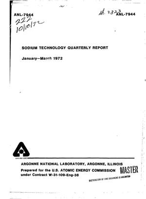 Primary view of object titled 'Sodium Technology Quarterly Report, January--March 1972.'.