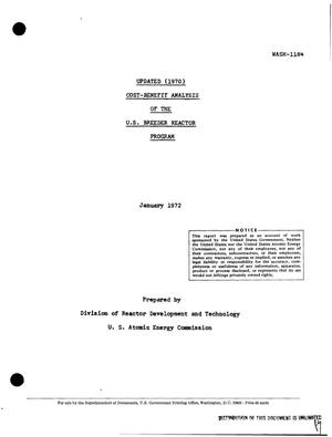 Primary view of object titled 'Cost-Benefit Analysis of the u.s. Breeder Reactor Program. Updated (1970).'.
