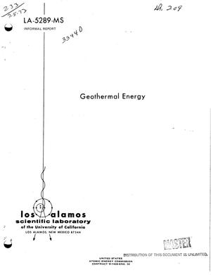 Primary view of object titled 'Geothermal energy'.