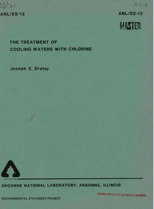 Primary view of object titled 'TREATMENT OF COOLING WATERS WITH CHLORINE.'.